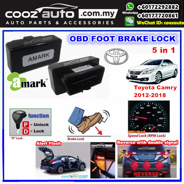 Toyota Camry 2012-2018 5 IN 1 A-MARK OBD FOOT BRAKE AUTO DOOR SPEED D LOCK Sel