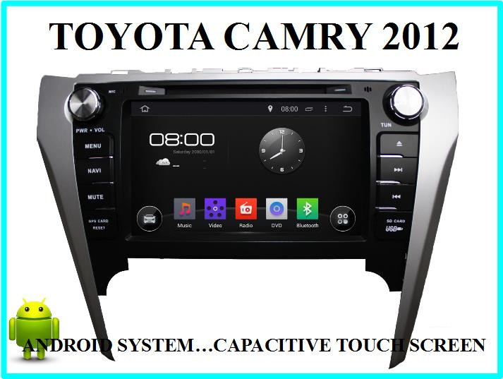 TOYOTA CAMRY (2012) CAR ANDROID PLAYER TOUCH SCREEN w GPS NAVIGATION