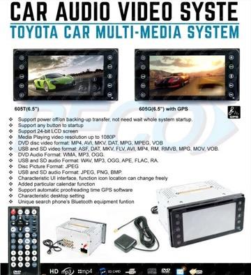 Toyota car double din no GPS free reverse camera