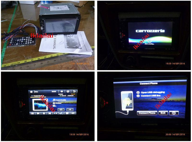 Toyota CARROZZERIA 6.95 inch DVD Player with Mirror Link USB/FM/DVD/TV