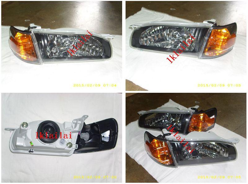Toyota Corolla AE111 '96 Crystal Black Head Lamp Set