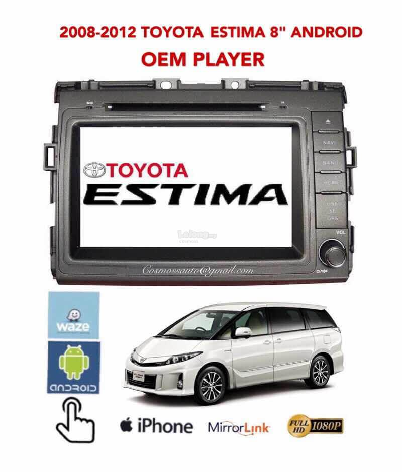 \TOYOTA ESTIMA 08-12 8'' ANDROID OEM PLAYER+MIRRORLINK+CAPACITIVE+GPS: Best  Price in Malaysia