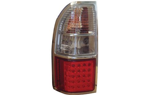 Toyota FJ90 97-02 Prado Tail Lamp Crystal LED Clear/Red(Chrome Rim)(TY