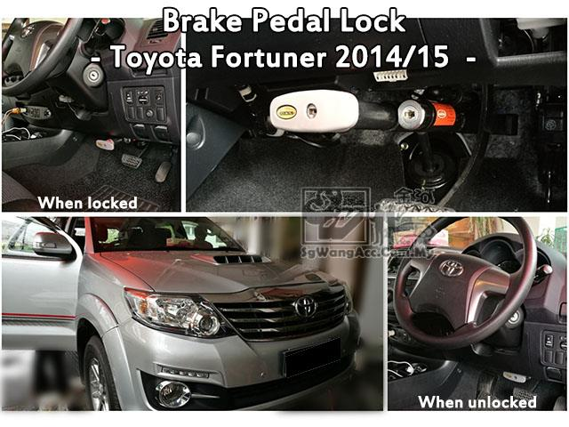 Toyota Fortuner 2015- Locktech Brake Pedal Lock (Made in Thailand)