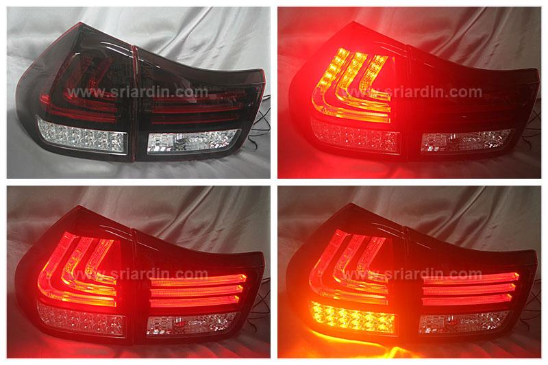 Toyota Harrier 04-06 Red Clear Light Bar LED Tail Lamp