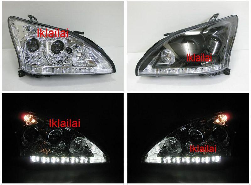 Toyota Harrier / Lexus RX330 '03-09 Projector Head Lamp LED DRL R8
