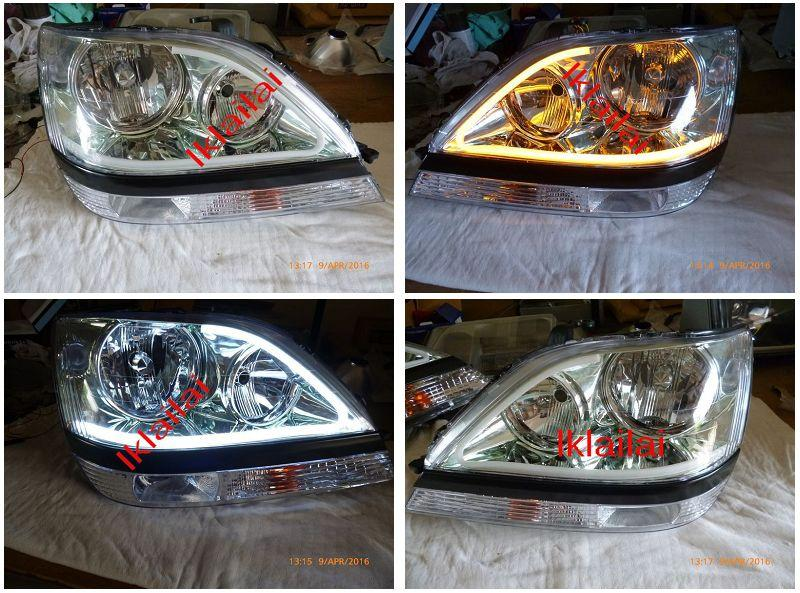 Toyota Harrier RX300 `98-02 Head Lamp 2-Function LED DRL R8