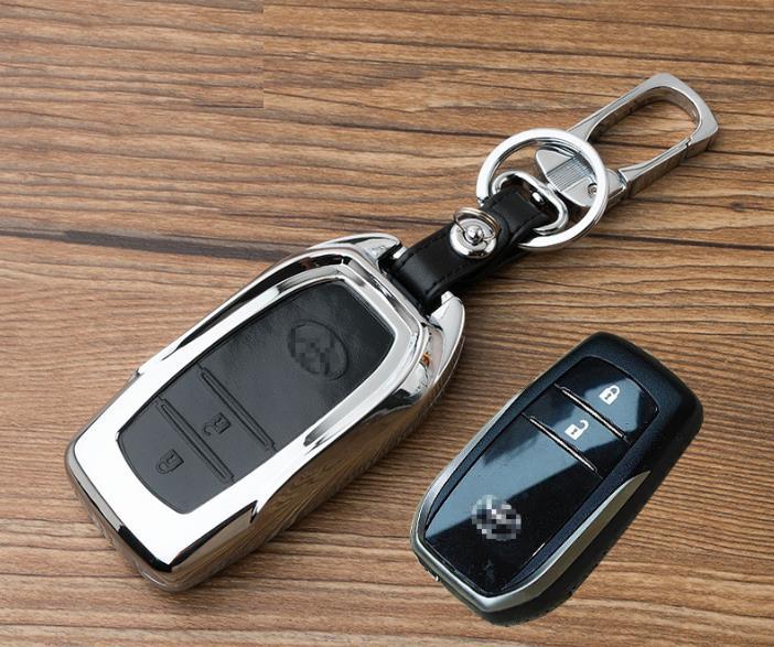 edfa700f905dc1 Toyota Hilux Revo / New Innova Keyless Remote Metal Leather Key Cover. ‹ ›