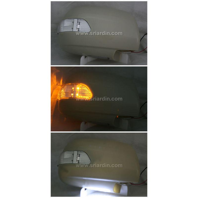 Toyota Hilux Vigo 05 Side Mirror Cover w LED Signal & Foot Lamp