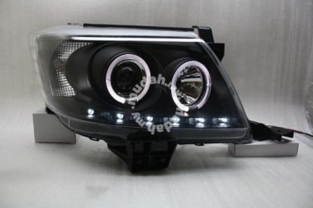 Toyota Hilux Vigo 11-12 Projector Head Lamp DRL Led With Led Ring Blac