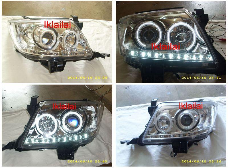 Toyota Hilux Vigo `11 CCFL Ring Projector Head Lamp LED DRL R8 Chrome