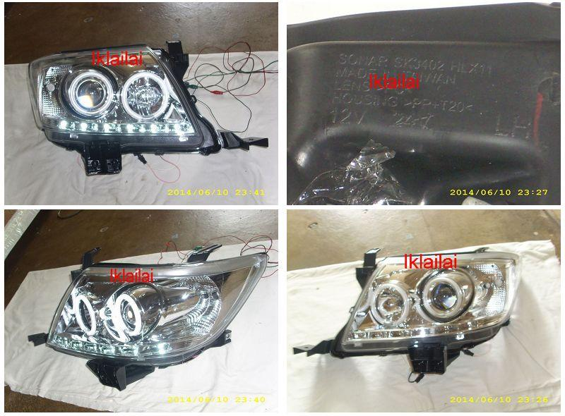 Toyota Hilux Vigo `11 LED Ring Projector Head Lamp LED DRL R8 [Chrome]