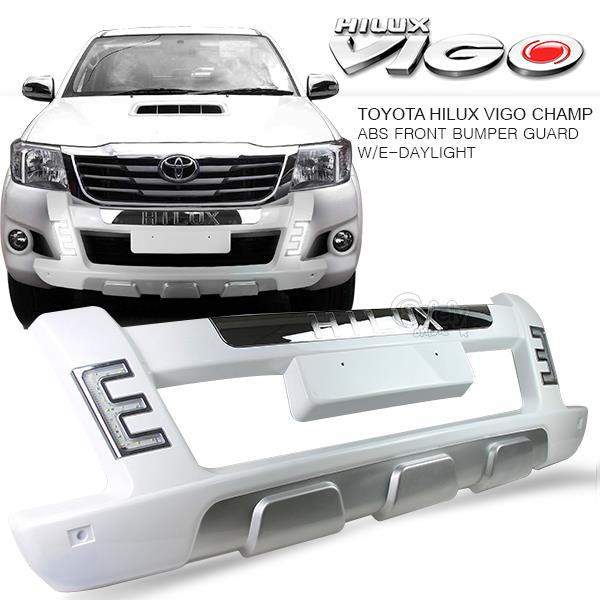 Toyota hilux vigo champ 12 on front b end 862016 315 pm toyota hilux vigo champ 12 on front bumper nudge bar w drl led light mozeypictures Gallery