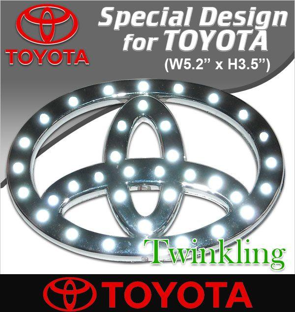 Toyota / Honda White LED Logo Emblem [Raya Offer]