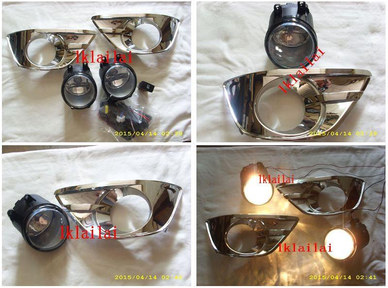 Toyota Innova '12-13 Fog Lamp Chrome Cover With Wiring + Switch