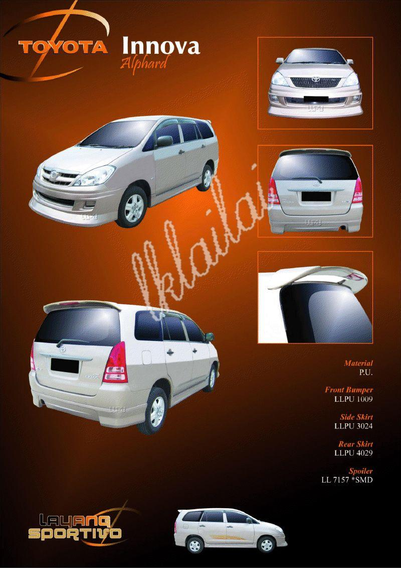 Toyota Innova Full Set Skirting Alphard Style PU Body Kit