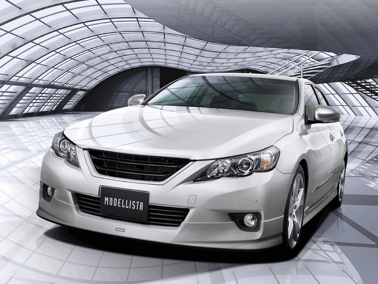 Toyota Mark X 2009 Modellista Bodykit Skirting With Oem Paint
