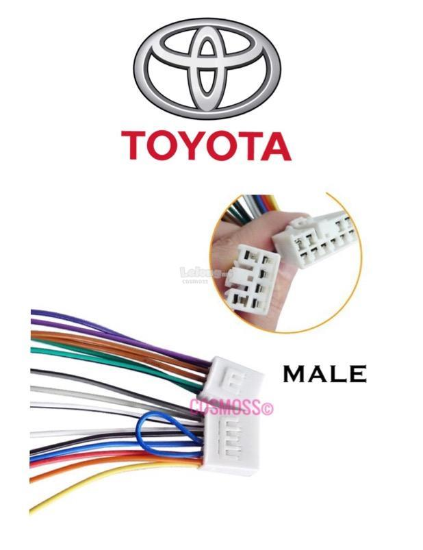 TOYOTA / PERODUA OEM Plug and Play Socket Cable Player Socket (MALE)
