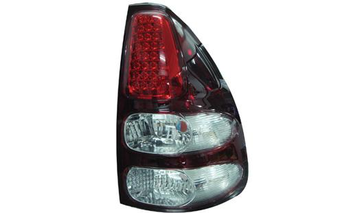 Toyota Prado FJ120 '03 LED Tail Lamp Red-Clear Lens