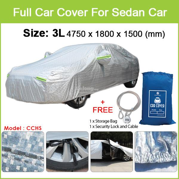 Toyota Prius - Size 3L Full Car Cover Rain Dust Sunlight Protection