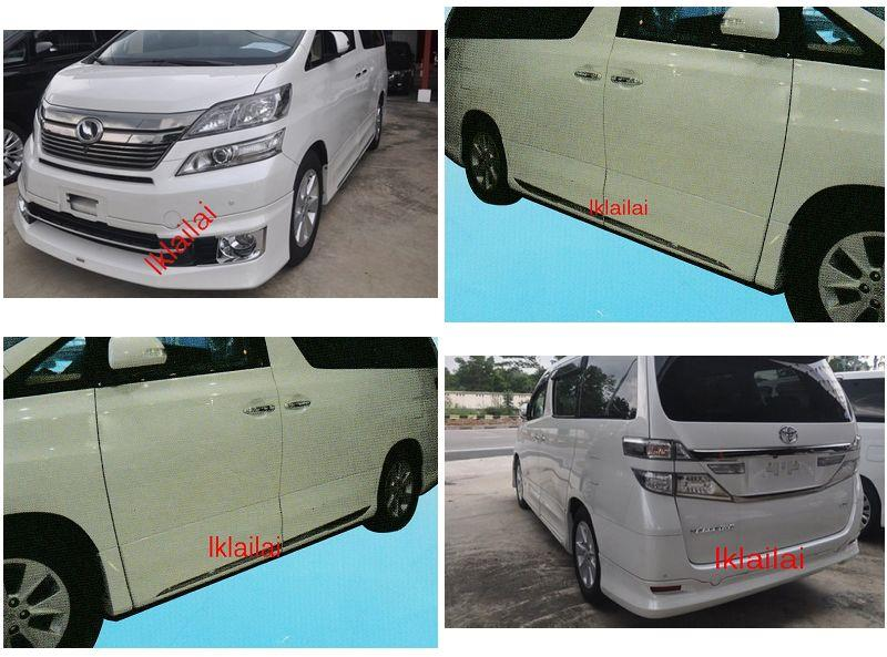 Toyota Vellfire '14 G Spec Body Kit With Chrome Lining