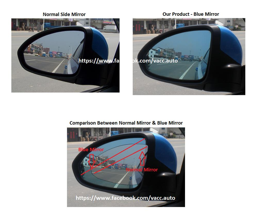 Toyota Vellfire / Alphard (AH20) Blue Mirror with LED Signal Lamp
