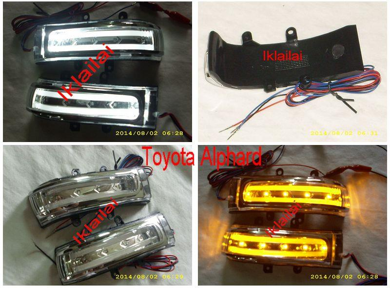 Toyota Vellfire/Alphard Side Mirror LED Light Bar [2-Function Type C]
