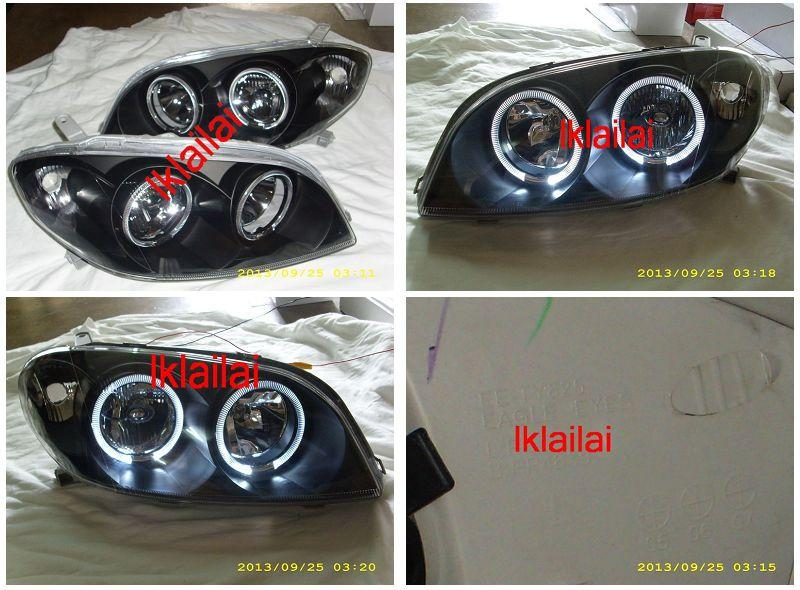 Toyota Vios `03 LED Ring Crystal Head Lamp Black