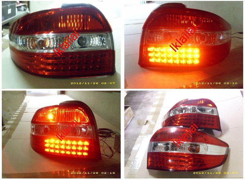Toyota Vios '03 LED Tail Lamp Red-Clear Lens