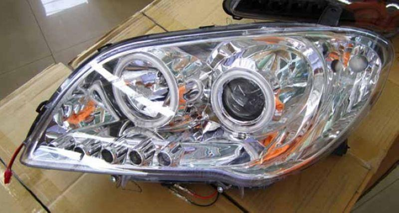 Toyota Vios '06 CCFL Ring Projector Head Lamp + LED Light