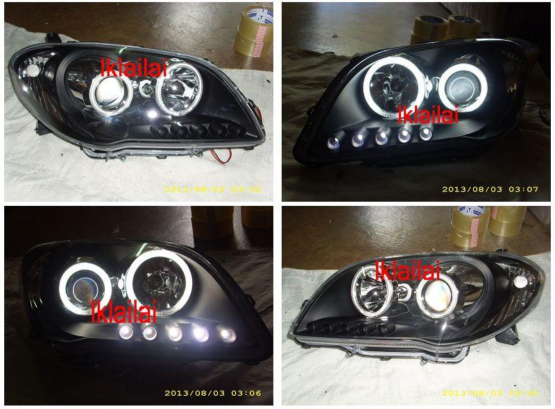 Toyota Vios `06 NCP42 CCFL Projector Head Lamp Crystal + LED