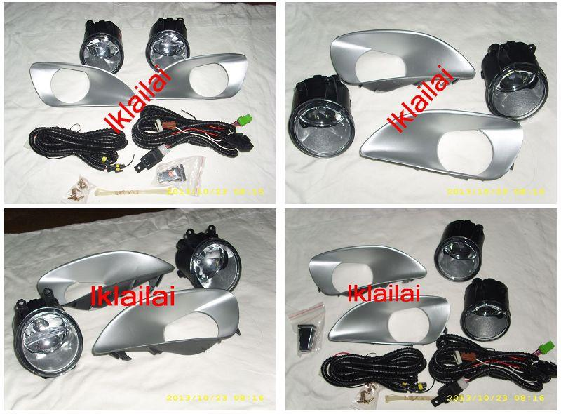 Toyota Vios '07-12 Fog Lamp Chrome Cover + Wiring & Switch on