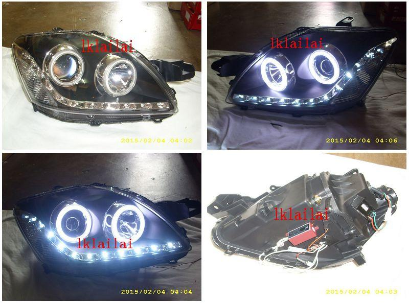 Toyota Vios '07 CCFL Ring Projector Head Lamp DRL R8 [1-pair]
