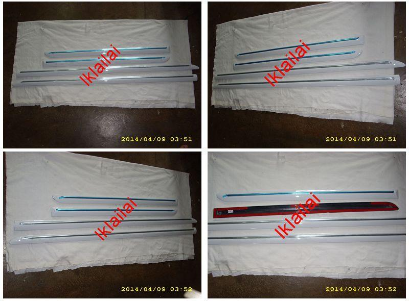 Toyota Vios '07 Door Moulding W/Chrome Lining Painted [4pcs/set]