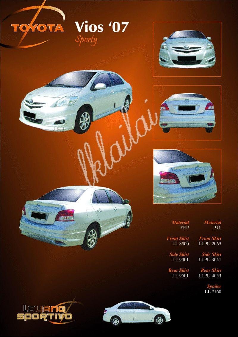 Toyota Vios '07 Skirting Sporty Style Body Kit [PU-Rm720/Fiber-Rm450]