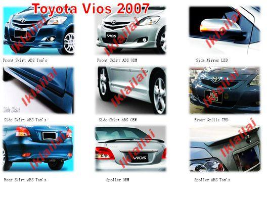 Toyota Vios '07 TOM's/OEM Body Kit [ABS] Free Spoiler + Paint Work