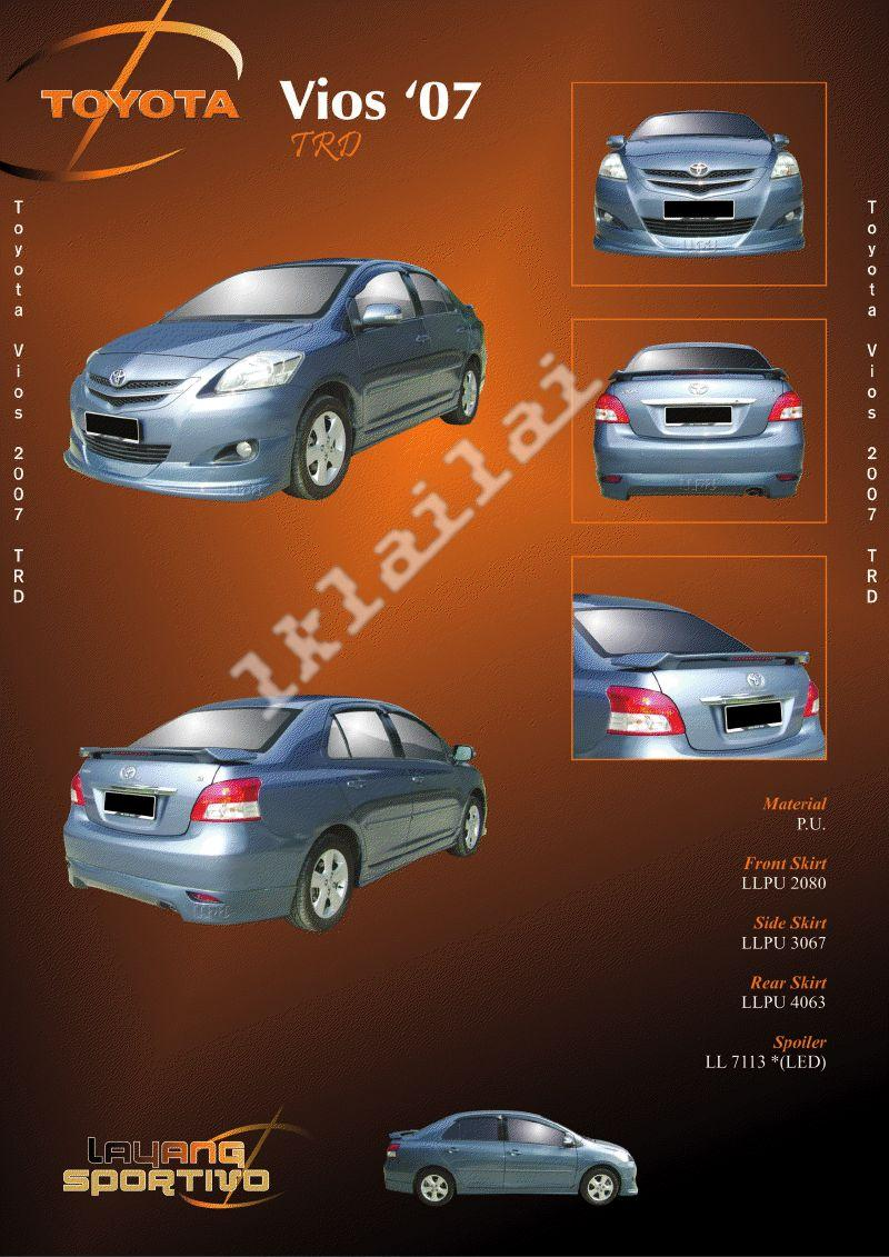 Toyota Vios '07 TRD Style Full Set Body Kits PU Material