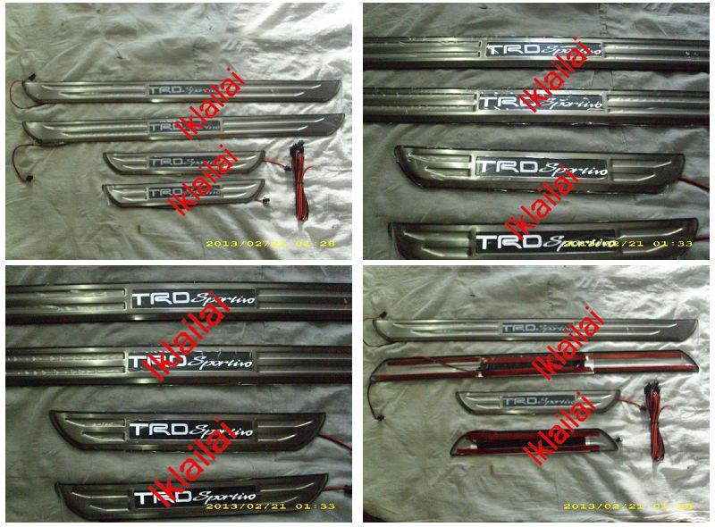 Toyota VIOS '08 Door / Side Sill Plate With LED Light [TRD Sports 4pcs