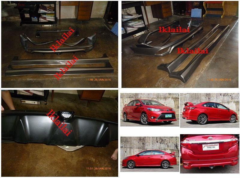 Toyota Vios '13-14 TRD Full Set Body Kit Skirting + Spoiler [Painted]