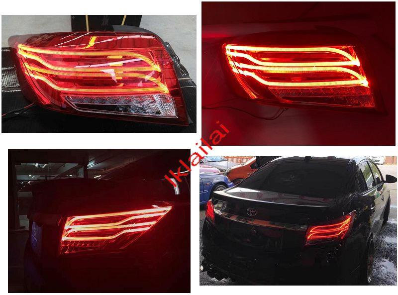 Toyota Vios '14-16 LED Light Bar Tail Lamp [Red Lens] Benz Look