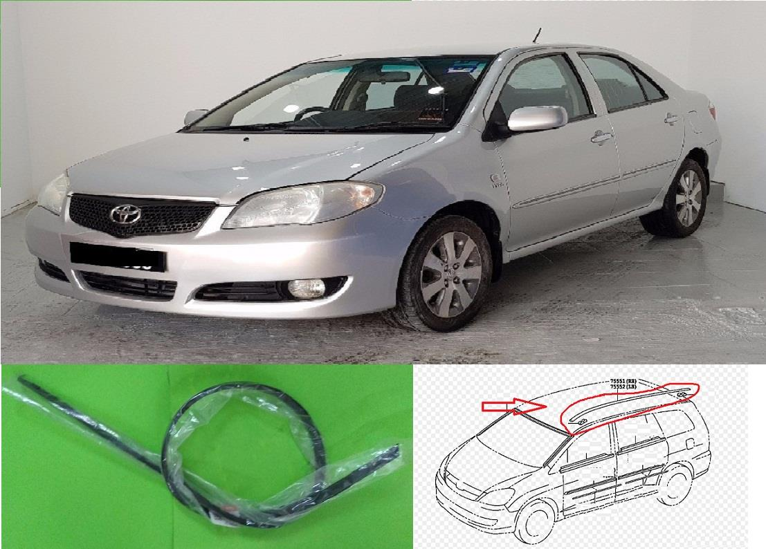 TOYOTA VIOS 2003 NCP42 ROOF RUBBER GETAH BUMBUNG KANAN DRIVER RIGHT