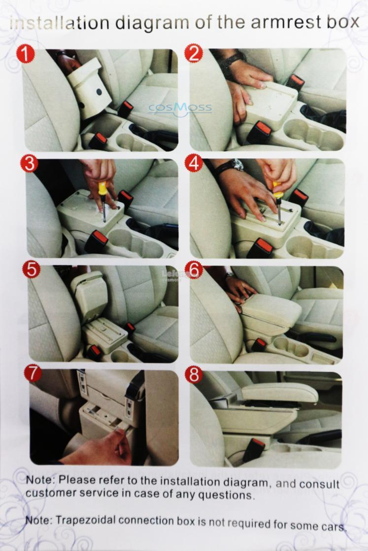 Toyota Vios 2014 2018 Pvc Car Armres End 10 7 2019 815 Pm Wiring Diagram New Armrest Red Line With Drink Holder