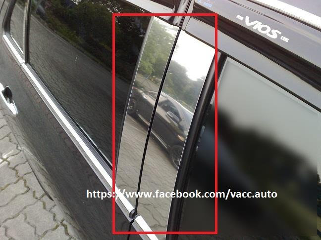 Toyota Vios (2nd Gen) Door Pillar Chrome