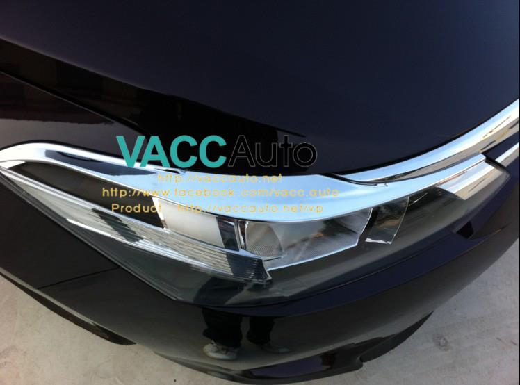 Toyota Vios (3rd Gen) Head Lamp Chrome Eyelid