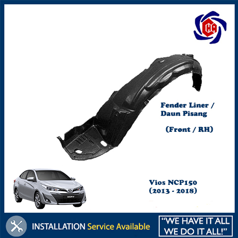 Toyota Vios NCP150 (2013-2018) Front Fender Liner Protector