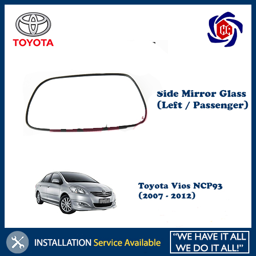 Toyota Vios NCP93 (2007 - 2012) Side Mirror Glass