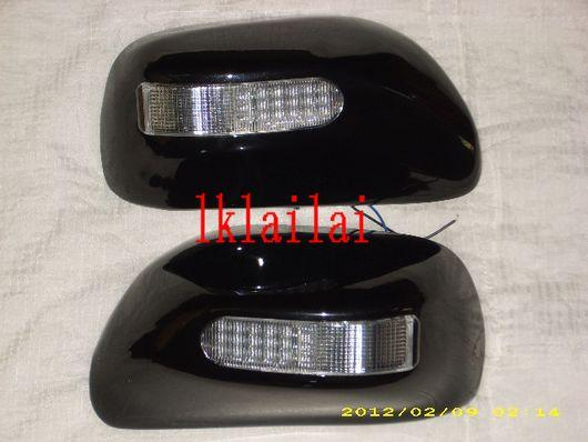 Toyota Wish '03-07 Sakura Side Mirror Cover LED [Painted] [Black]