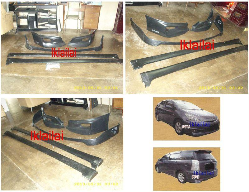 Toyota Wish '05 Aero Sport Body Kit Full Set + Paint [PPU Material]