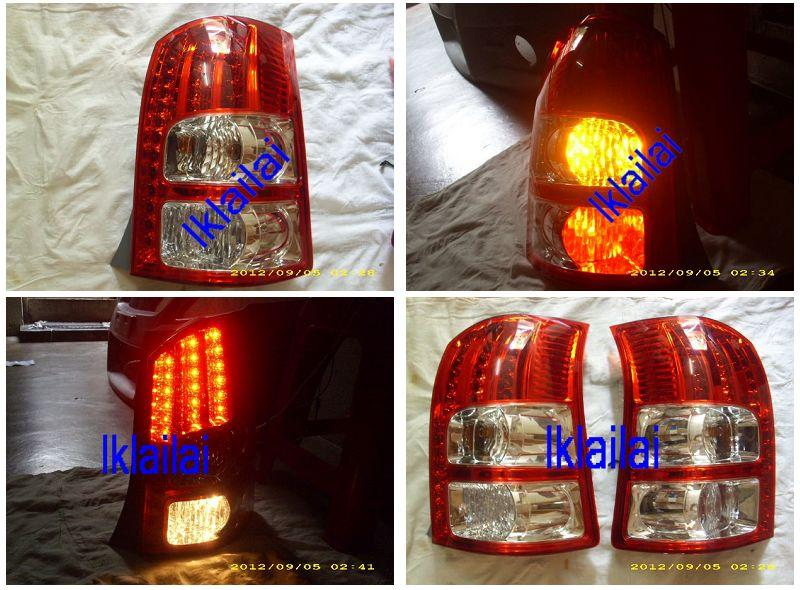 TOYOTA WISH '07 Red Clear Crystal LED Tail Lamp