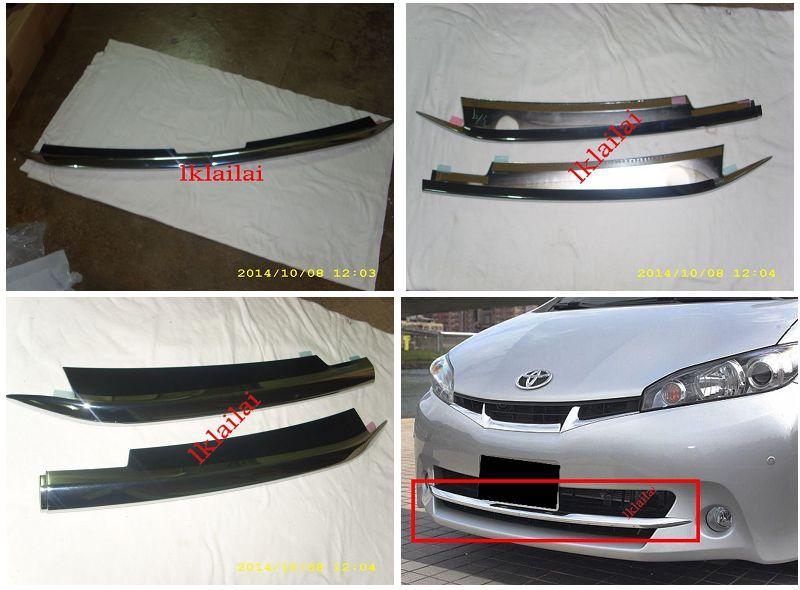 Toyota Wish '09-13 Front Bumper Grille Chrome Cover [2pcs/set] ABS